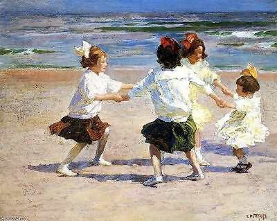 Edward Henry Potthast Ring Around the Rosy Oil Painting repro