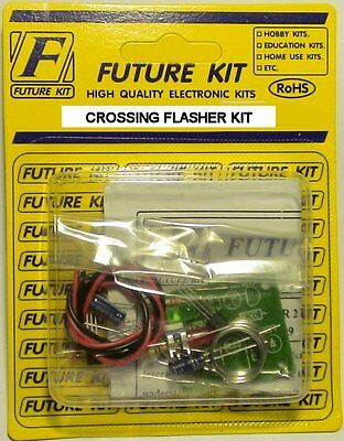 S Scale Model Train Railroad Crossing Flasher Circuit  Kit With 4 Red 3Mm Leds