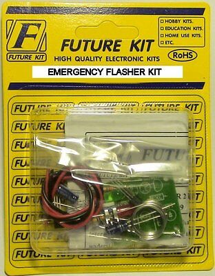 S Scale EMERGENCY FLASHER KIT WITH 2 AMBER FLAT TOP 360 DEGREE LEDS EASY  BUILD