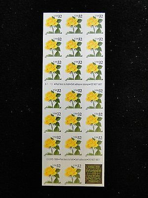 SCOTT# 3049   32ct YELLOW ROSE  booklet of 20 Mint NH free shipping
