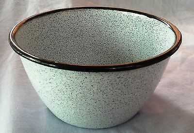 Vintage Small Enamel Blue spotted bowl