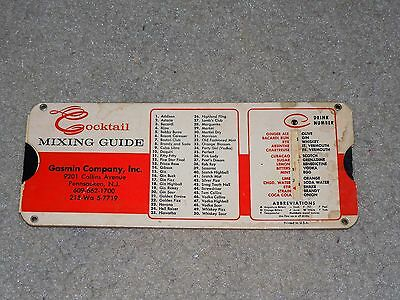 Vintage 1964 Perrygraf Cocktail Mixing Guide Slide Chart Used