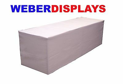 White 6 Ft Long X 30 in Deep X 29 in High Fitted Table Jacket Table Cloth