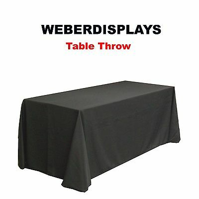"Black 6 FT LONG TABLE COVER THROW DRAPE 29"" HIGH 30"" DEEP for 6' Standard Table"