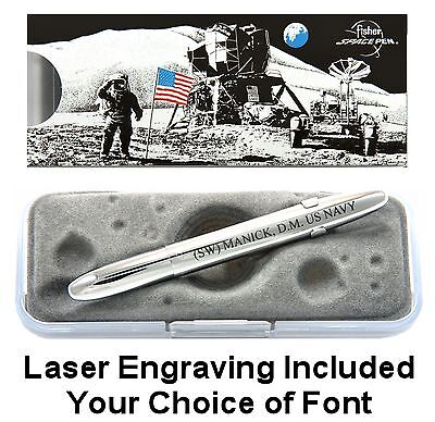 Personalized Fisher Chrome Bullet Space Pen with Clip / #400CL