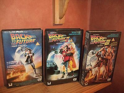 Back To The Future  TRIOLOGY , VHS Ex Rental Big Box Originals