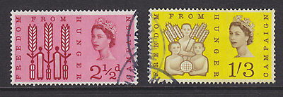 1963 Freedom From Hunger Phosphor Set Of 2 Sg634P/635P Fine Used