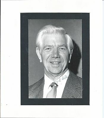 Jack Ashley (1922-2012) - Labour Mp - House Of Lords - Mounted Signed Photo Coa