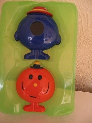mr men and little miss cheerful and miss bossy plastic figures boxed new