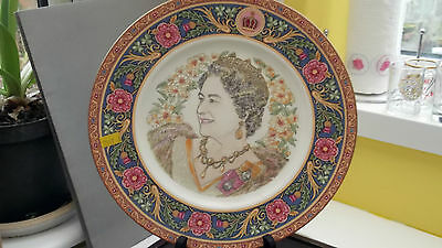 1985  Coalport Decorative Plate  For 85 Th Birthday Of Queen Mother Ltd Ed