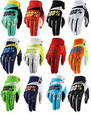 2017 100% Youth Airmatic Kids Motocross Mx Enduro Bike Gloves Red Black White