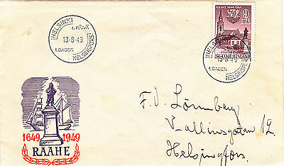 Finland : Tercentenary Of Raahe First Day Cover (1949)