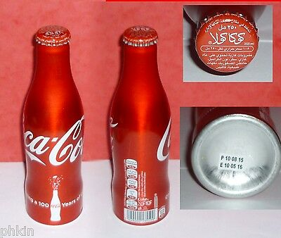 "1 Bouteille / Bottle Coca Cola  Alu  "" 100 Years 2015 "" Emirats Uae  Full Pleine"