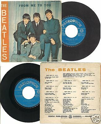"""7"""" THE BEATLES : FROM ME TO YOU  45 GIRI - RARE Italy 1964 ORANGE BACK COVER"""