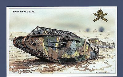 Tanks and Armoured Cars Of The British Army - Military Postcard Set