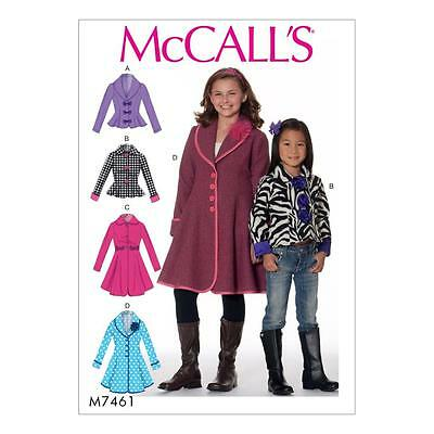 McCALL'S SEWING PATTERN CHILDREN'S /GIRLS' JACKET & COATS SIZE 3 - 14 M7461