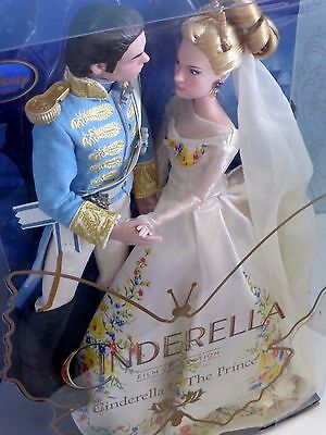 Disney Store - Cinderella And The Prince Collection Dolls Live Action Film Bnib