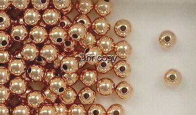 12k Rose Gold Filled 10mm Round Seamless Spacer Beads, Choice of Lot Size-Price