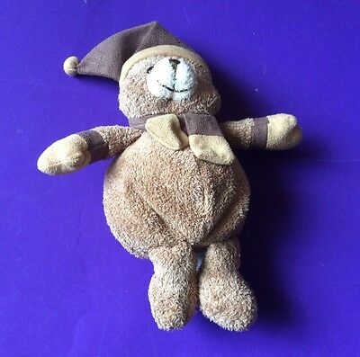 """SOFT TOY. BROWN TEDDY CHAD VALLEY. WITH HAT AND SCARF   8"""" tall"""