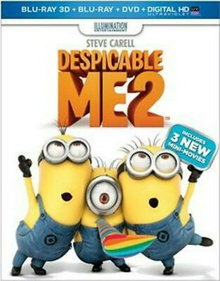 Despicable Me 2 3d - BLU-RAY 3D COMBO Region 1 Free Shipping!