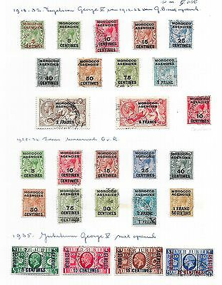 Morocco Agencies stamps 1918 Collection of 30 stamps  CANC  VF