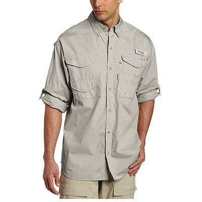 Columbia Bonehead Long Sleeve Collared Shirt - Small - Fossil
