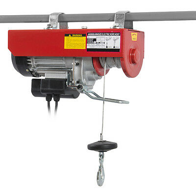880 Lb Electric Overhead Motor Lift Hoist Garage Engine Winch Crane Automobile