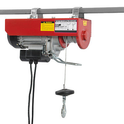 New 1500LB Electric Motor Overhead Winch Hoist Crane Lift w/ Remote Control Auto