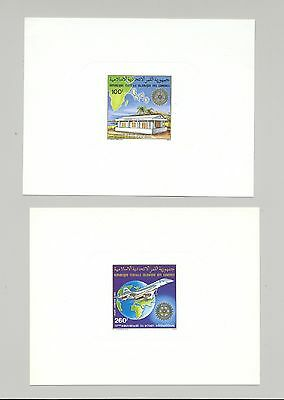 Comoros #C109-C110 Concorde, Maps, Rotary 2v Deluxe Sheets