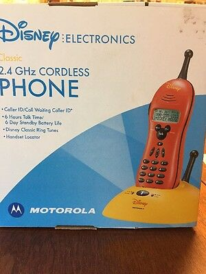 Disney Mickey Mouse Cordless Phone Telephone Handset By Motorola