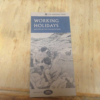 Working Holidays in the countryside, National Trust brochure UK