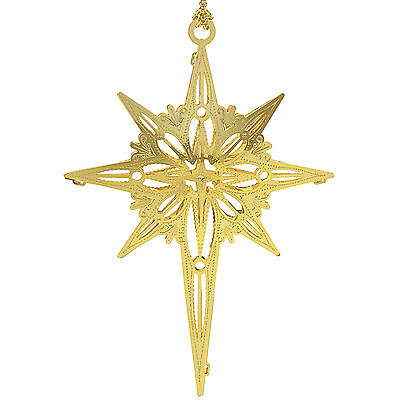 New 24K Gold Bethlehem Star Christmas Tree Ornament