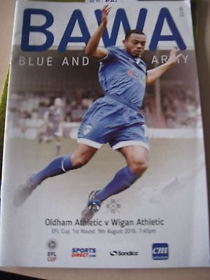 2016-17 Oldham Athletic v Wigan Athletic EFL LEague Cup 1st round 9.8.2016