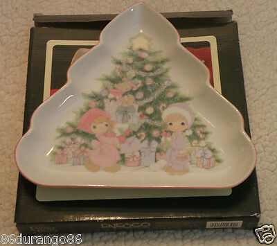 Precious Moments Christmas Tree Candy Dish Enesco