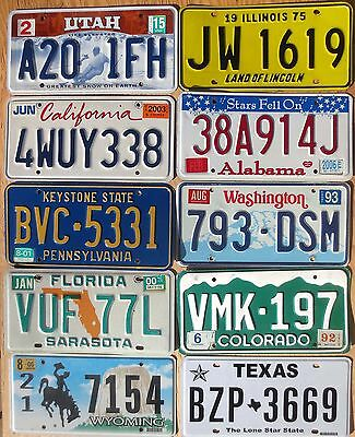 Ten 10 License Plates Number Tag Plate Lot 1