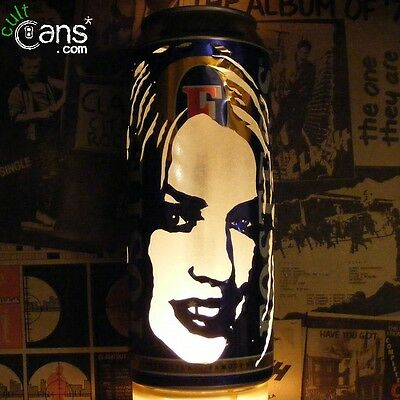 Kylie Minogue Beer Can Lantern! Pop Art Portrait Candle Lamp