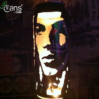 David Gilmour Beer Can Lantern! Pink Floyd Pop Art Candle Lamp, Dave Gilmour