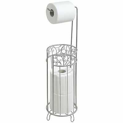 InterDesign Twigz Free Standing Toilet Paper Holder for Bathroom - Silver NEW
