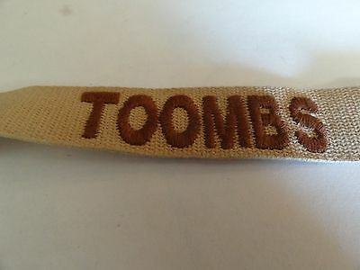 Military Patch Us Army Name Tape Tag Sew On For Dcus Older Desert Tan Toombs