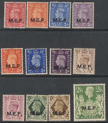 GB Middle East Forces MEF 12 diff mint stamps George VI cv $27.50