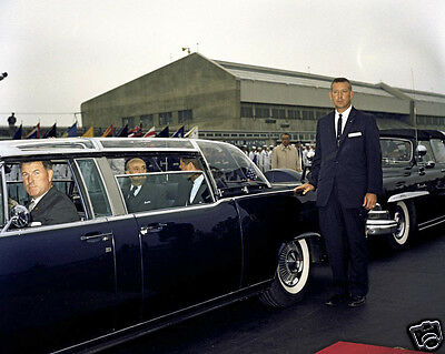 President John F. Kennedy and Peru leader in limousine motorcade New 8x10 Photo