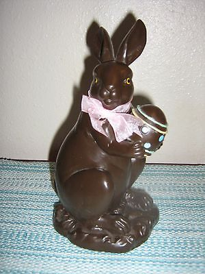 Easter/spring Faux Chocolate Bunny Figurine Egg!