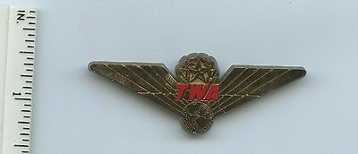 TWA Plastic Wings Pin Pinback Trans World Airlines