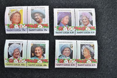 Saint Lucia1985 Queen Mother Stamps  S782-85 Se-Tenant