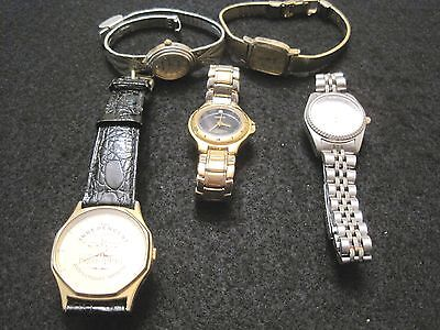 Vintage Lot of 5 Watches-Milan, Sieko, Armitron, Watchit Use for Parts or Repair