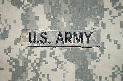 VELCRO® US ARMY Name Tape ACU Pattern Military Patch Used Authentic