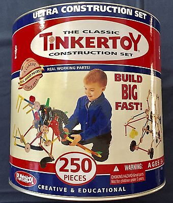 TINKER TOY ULTRA CONSTRUCTION CLASSIC 2007 SET - All 250 Pieces in Great Shape