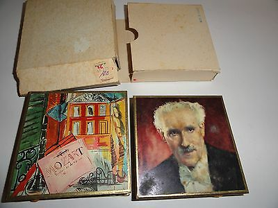 2 Vintage Match Box Decorative Boxes Made In France Dufy Toscanini Mid Century