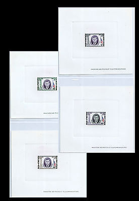 GUINEA 1964 J.F.KENNEDY MEMORIAL S#325-327,C56 DELUX PROOF 4x CARDS MNH VF