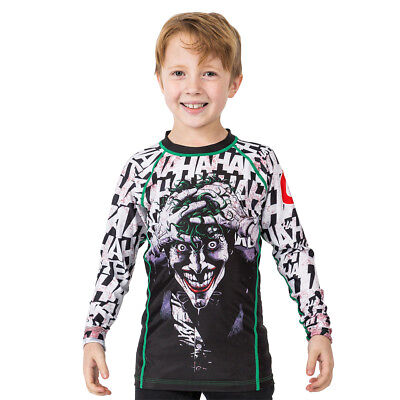 Fusion Fight Gear Kid's Batman The Killing Joke Long Sleeve Rashguard
